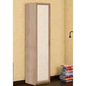 Шкаф-пенал Камелия, ясень шимо светлый/белый кожзам