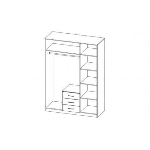 Шкаф Фриз 06.291 с зеркалом, Дуб Сонома