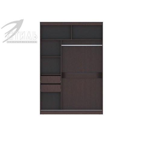Шкаф-купе Комфорт №13 с прямоугольными зеркалами