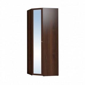Шкаф угловой Sherlock 63+ фасад зеркало, Орех шоколадный