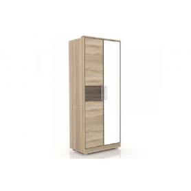 Шкаф двухстворчатый Бруна, 631.143, с одним зеркалом
