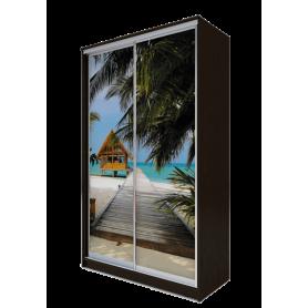 Шкаф-купе 2-х дверный 2300х1362х620 фотопечать, рисунок
