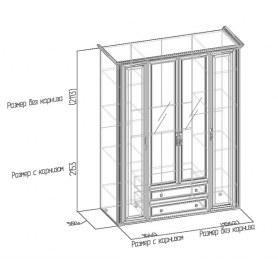 Шкаф Montpellier 2 для одежды и белья, Дуб Млечный