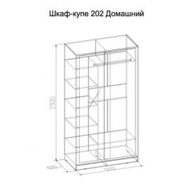 Шкаф-купе 303 Домашний, Ясень шимо темный