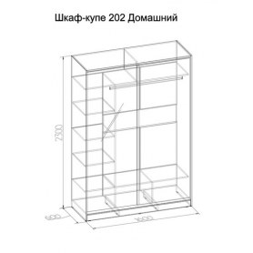 Шкаф-купе 202 Домашний, Бодега светлый