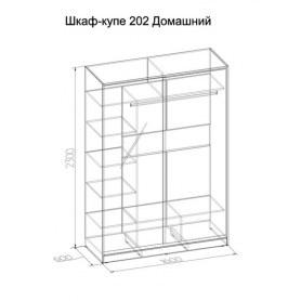 Шкаф-купе 202 Домашний, Ясень шимо светлый