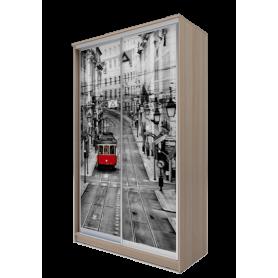 Шкаф-купе 2-х дверный 2400х1682х620 фотопечать, рисунок