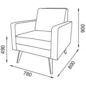 Кресло Брайтон 4 (ППУ)