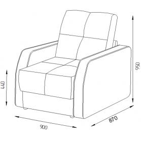 Кресло Оксфорд 4 (ППУ)