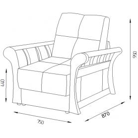 Кресло Оксфорд 7 (ППУ)