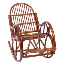Кресло-качалка MI-001 CLASSIC с подушкой, Коньяк