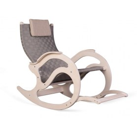 Кресло-качалка К4 белый дуб/серый