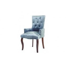 Кресло Виктория (бархат №9/темный тон)