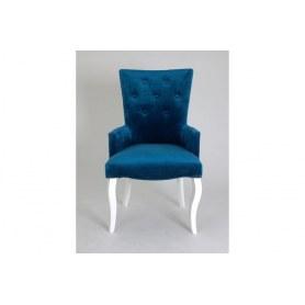 Кресло Виктория (бархат №34/белая эмаль)