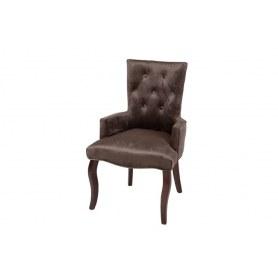 Кресло Виктория (коричневый бархат/темный тон)