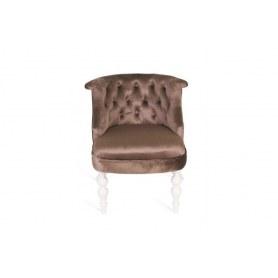 Кресло Бархат (бархат №6/белая эмаль)