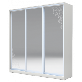 Шкаф-купе 3-х дверный 2300х1770х620 три зеркала, рисунок