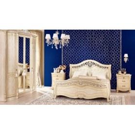 Спальный гарнитур Мирабелла: кровать, две тумбы, кровать, шкаф