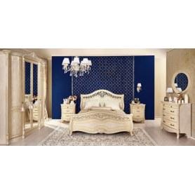 Спальный гарнитур Мирабелла: шкаф, две тумбы, кровать, комод, зеркало