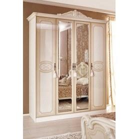 Спальный гарнитур Гранда «ШТРИХЛАК» с четырехстворчатым шкафом