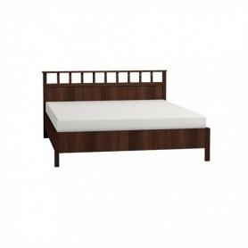 Кровать Sherlock 47 Люкс 1600, Орех шоколадный +  2.1 Основание с гибкими ламелями, Металл