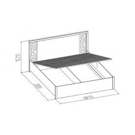 Кровать с подъемным механизмом Wyspaa 21.2 (1800), Дуб Сонома