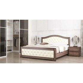Кровать Стиль 3, 160х200, кожзам, с основанием