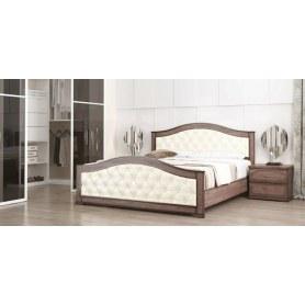 Кровать Стиль 1, 160х190, кожзам, с основанием