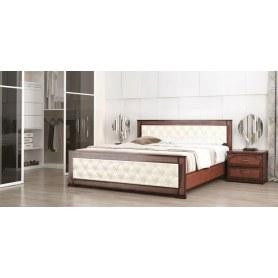 Кровать Стиль 2, 160х190, кожзам, с основанием