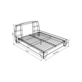 Кровать 1.4 Виктория-1 (спальное м. 1400х2000)