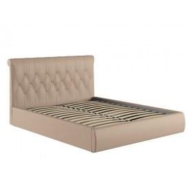 Кровать Тиффани, кожзам Гранд Шоколад с основанием