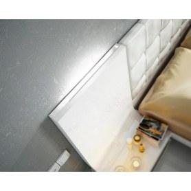 Кровать 514 GRANADA белоснежная с подсветкой (180x200)