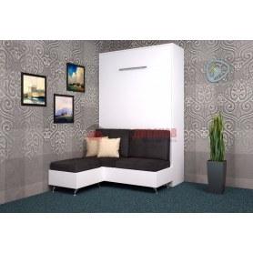 Кровать-шкаф с диваном Бела 7, 1200х2000, белый