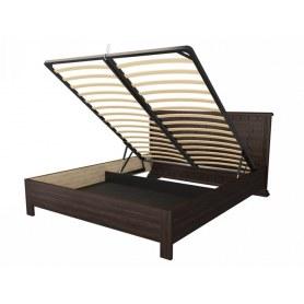 Кровать с подъемным механизмом Milena-M-тахта, 200х200, сосна, орех