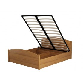 Кровать с подъемным механизмом Аккорд, 160х200, белая