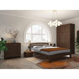 Кровать Веста 2-R, 160х200, сосна, орех