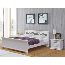 Кровать Nika, 180х200, сосна, белая эмаль