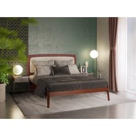 Кровать Beetle, 160х200, красно-коричневый, Renata 3349/Lofty Linen