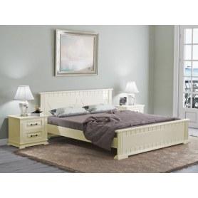 Кровать Milena, 200х200, сосна, слоновая кость