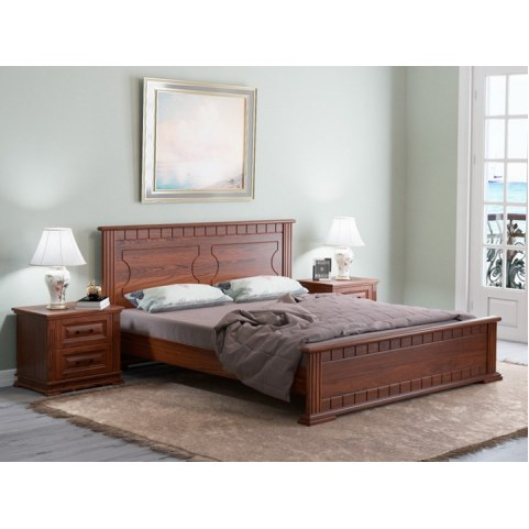 Кровать Milena-M, 160х200, береза, орех