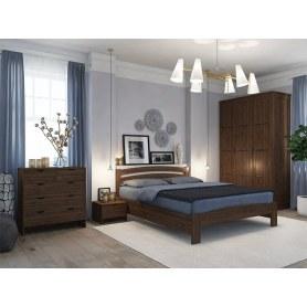 Кровать с подъемным механизмом Веста 2-R с ПМ, 180х200, сосна, венге