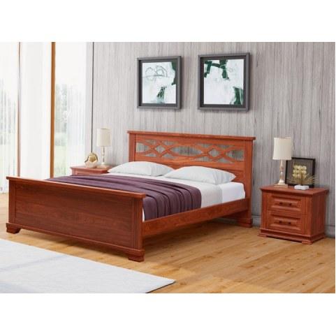 Кровать Nika-M, 180х200, береза, красно-коричневая