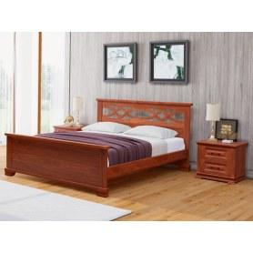 Кровать Nika-M, 180х200, сосна, красно-коричневая