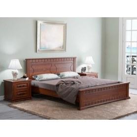 Кровать Milena-M, 200х200, сосна, орех