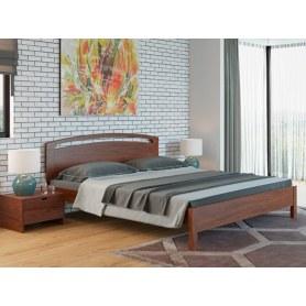 Кровать Веста 1-тахта-R, 200х200, береза, орех