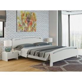Кровать с подъемным механизмом Веста 1-R с ПМ, 200х200, береза, белая эмаль