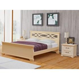 Кровать Nika-M, 200х200, сосна, слоновая кость