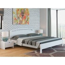 Кровать Веста 1-тахта-R, 200х200, береза, белая эмаль