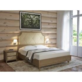 Кровать Richard, 160х200, Ткань Лофти Бежевый/массив Айвори