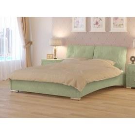 Кровать Nuvola-4 (2 подушки), 160х200, велюр Лофти олива